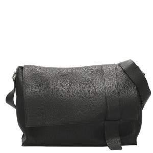 Hermes Black Leather Alfred Bag