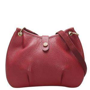 Hermes Red Leather Rodeo Bag