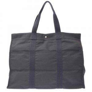 Hermes Grey Toile Canvas Herline TGM Bag
