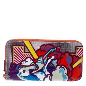 Hermès Multicolor Leather Pegasus Pop Azap Long Wallet
