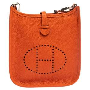 Hermes Feu Togo Leather Evelyne TPM Bag