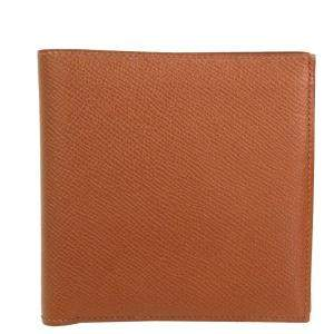 Hermes Brown Leather Bifold Wallet
