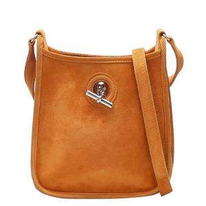 Hermes Orange  Suede Vespa TPM Shoulder Bag