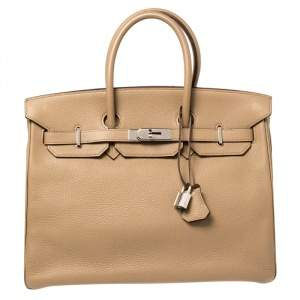 Hermes Cardamome Taurillon Clemence Leather Palladium Hardware Birkin 35 Bag