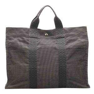 Hermes Brown Canvas Fourre Tout MM Bag
