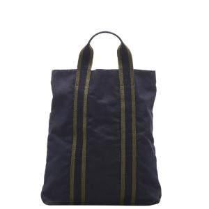 Hermes Blue Canvas Fourre Tout Cabas bag