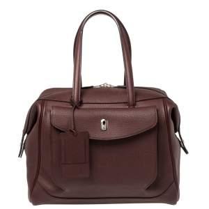 Hermes Bordeaux Togo Leather Wallago Cabine 35 Bag