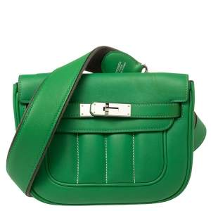 Hermes Bamboo Swift Leather Berline 21 Bag