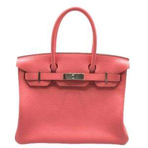 Hermes Rose Clemence Leather Palladium Hardware 2020 Birkin 30 Bag