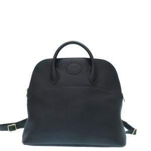 Hermes Navy Blue Leather Bolide Backpack