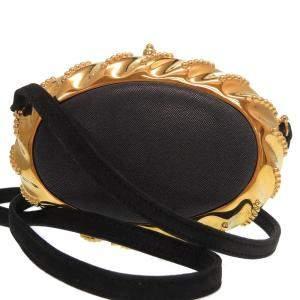 Hermes Navy Blue/Gold Leather Vintage Shoulder Bag