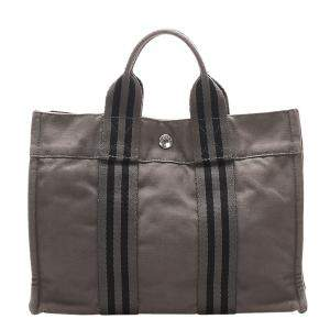 Hermes Grey Canvas Fourre Tout PM bag