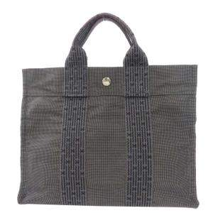 Hermes Grey Herline Canvas Tote Bag