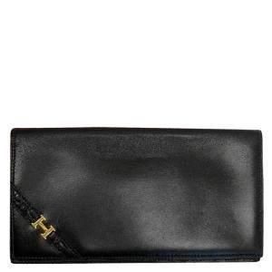 Hermes Black Bi-Fold Long Wallet