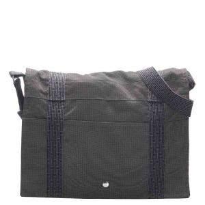 Hermes Grey Canvas Fourre Tout Besace MM Bag