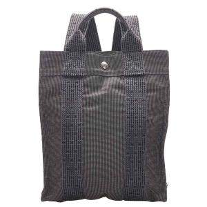 Hermes Grey Canvas Fourre Tout Backpack