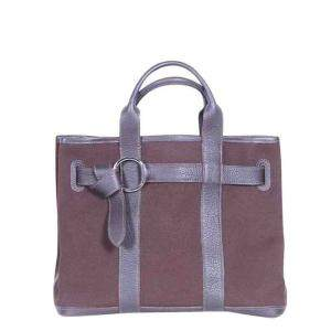 Hermes Brown Canvas Ceinture Tote Bag