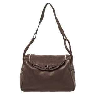 Hermes Cacao Togo Leather Palladium Hardware Lindy 34 Bag