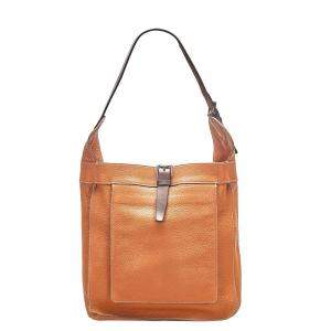 Hermes Brown Clemence Leather Marwari PM Bag