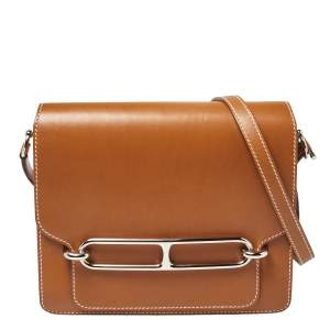 Hermes Natural Sable Veau Butler Leather Palladium Hardware Roulis 24 Bag