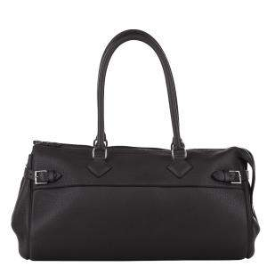 Hermes Black Clemence Leather Atlas 42 Bag