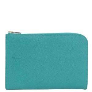 Hermes Green/Blue Epsom Leather Wallet