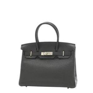 Hermes Black Togo Leather Birkin 30 Bag