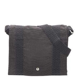 Hermes Grey Canvas Fourre-Tout Besace Messenger PM Bag