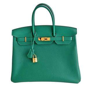 Hermès Vert Vertigo Epsom Birkin 35 Bag