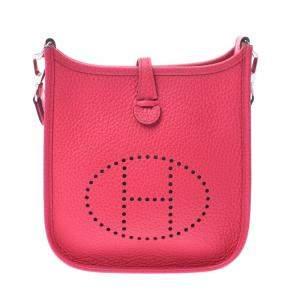 Hermes Pink Leather Evelyne TPM Shoulder Bag