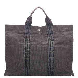 Hermes Grey Canvas Fourre Tout MM Bag