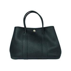 Hermes Black Leather Garden Party TPM Bag