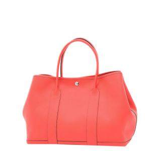 Hermes Pink Leather Medium Garden Party 36 Tote Bag