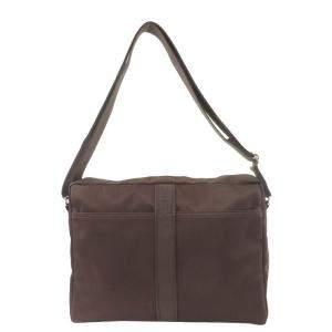 Hermes Brown Nylon Acapulco Shoulder Bag