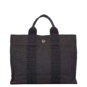 Hermes Grey Canvas Fourre Tout Tote Bag