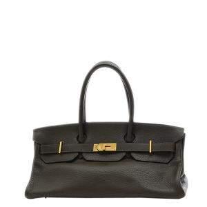 Hermes Black Clemence Leather Gold Hardware H JPG Birkin 42 Bag
