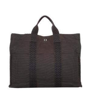 Hermes Brown Canvas Herline Shoulder Bag