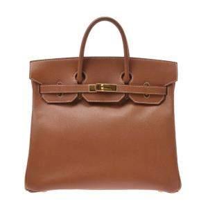 Hermes Beige Courchevel Leather Gold Hardware Birkin 32 Bag