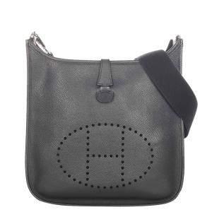 Hermes Grey Leather Evelyne I Shoulder Bag
