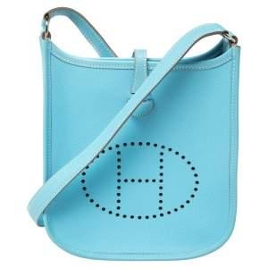 Hermes Blue De Nord Epsom Leather Evelyne TPM Bag