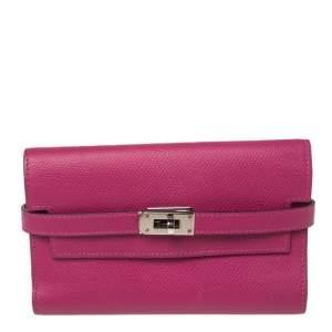 Hermes Tosca Epsom Leather Kelly Wallet