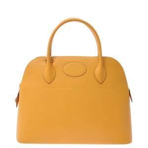 Hermes Yellow Leather Bolide 31 Satchel Bag