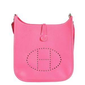 Hermes Rose Epsom Leather Evelyne III 29 Bag