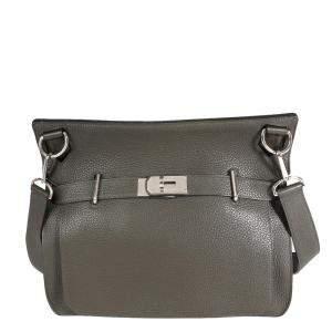 Hermes Ebene Clemence Leather Jypsiere 34 Bag