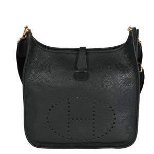 Hermes Black Togo Leather Evelyne III 29 Bag