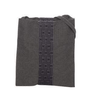 Hermes Black Canvas Herline Shoulder Bag