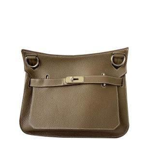 Hermes Brown Togo Leather Palladium Hardware Jypsiere 31 Bag