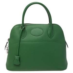 Hermes Vert Bengal Epsom Leather Bolide 31 Bag