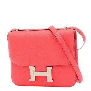 Hermes Pink Chevre leather Constance 3 Mini 18 Shoulder Bag
