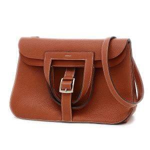 Hermes Brown Leather Arzan 31 Taurillon Cuible Shoulder Bag